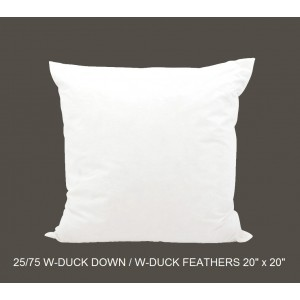 25/75 Duck Down/Feather Inserts 20 (inch) x 20 (inch)